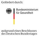 "Logo: ""Gefördert durch das BMG"""
